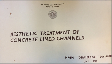 MMBW 1975, Aesthetic Treatment of Concrete Channels