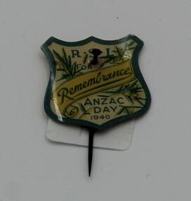 Badge - RSL ANZAC Badge, 1940 RSL ANZAC Day badge