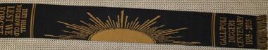 Memorabilia - Diggers Commemorative Scarf, Souvenier scarf to commemerate the 100th anniversary of Gallipoli Landings 2015