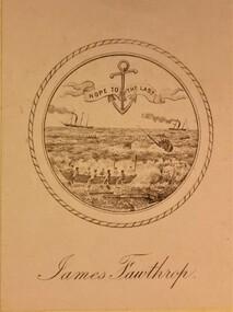 Work on paper - Bookplate, Captain James Fawthrop Bookplate