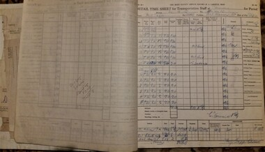 Administrative record - Time sheet carbon book, 1935