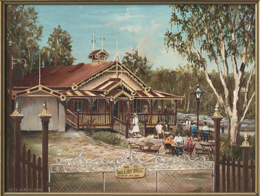 Painting - Keith Martin, Keith Martin, Fairfield Boat Shed II, 1988
