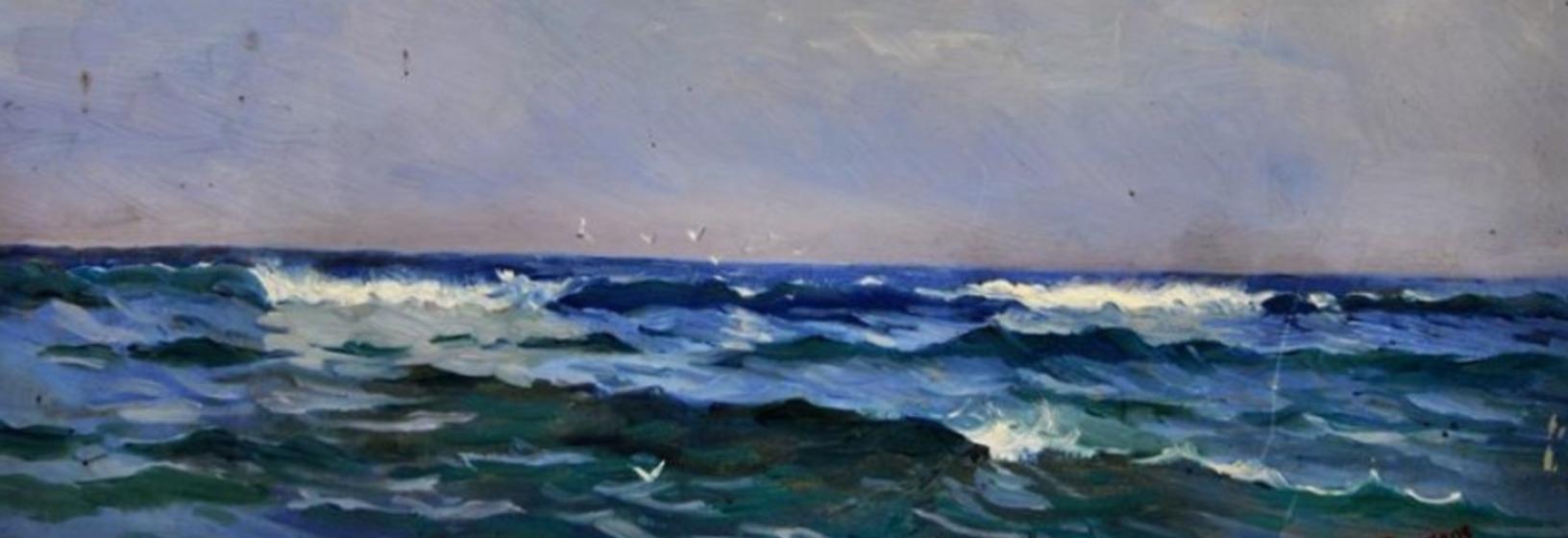 painting of ocean waves